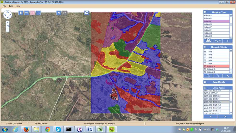 Mapping upland habitat onto Google Earth